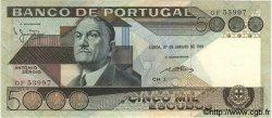 5000 Escudos PORTUGAL  1981 P.182b pr.NEUF