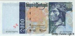 2000 Escudos PORTUGAL  1995 P.189a NEUF