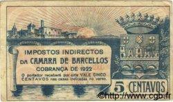 5 Centavos PORTUGAL Barcellos 1922  TTB