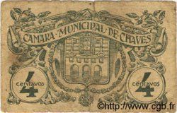 4 Centavos PORTUGAL Chaves 1918  B+