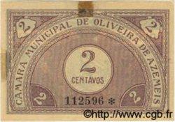 2 Centavos PORTUGAL Oliveira De Azemeis 1920  TTB+