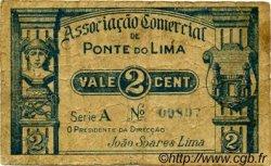 2 Centavos PORTUGAL Ponte De Lima 1920  B+