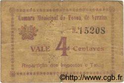 4 Centavos PORTUGAL Povoa De Varzim 1920  TB