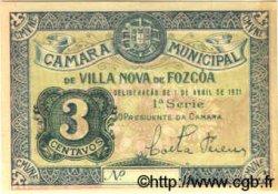 3 Centavos PORTUGAL Vila Nova De Fozcoa 1918  SPL