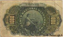 1000 Reis ANGOLA  1909 P.027 TB
