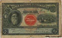 5000 Reis ANGOLA Loanda 1909 P.031 B