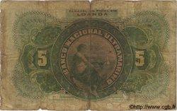 5000 Reis ANGOLA  1909 P.031 B