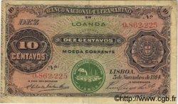 10 Centavos ANGOLA  1914 P.039 TTB