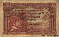 5 Angolares ANGOLA  1926 P.066 pr.TB
