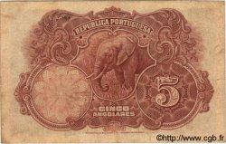 5 Angolares ANGOLA  1926 P.066 TB+