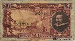 20 Angolares ANGOLA  1951 P.083 TB