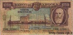 20 Escudos ANGOLA  1956 P.087 TB