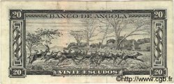 20 Escudos ANGOLA  1962 P.092 TTB
