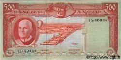 500 Escudos ANGOLA  1962 P.095 SUP+