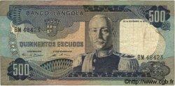 500 Escudos ANGOLA  1972 P.102 TB