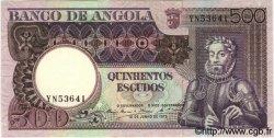 500 Escudos ANGOLA  1973 P.107 SUP