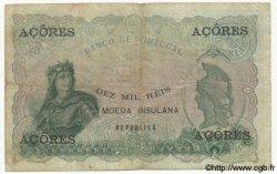 10000 Reis Ouro AÇORES  1910 P.12 TB