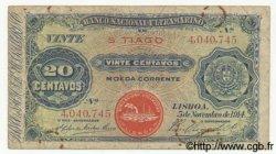 20 Centavos CAP VERT  1914 P.14 B à TB