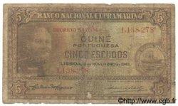 5 Escudos GUINÉE PORTUGAISE  1945 P.027 B