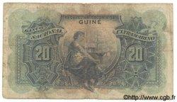20 Escudos GUINÉE PORTUGAISE  1947 P.033 B à TB