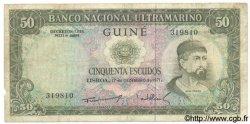 50 Escudos GUINÉE PORTUGAISE  1971 P.044