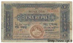 1 Rupia INDE PORTUGAISE  1917 P.021A B+