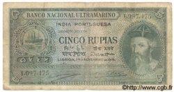 5 Rupias INDE PORTUGAISE  1945 P.035 B+