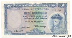 100 Escudos INDE PORTUGAISE  1959 P.43 pr.TTB