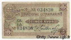 5 Avos MACAO  1920 P.010 TTB