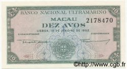 10 Avos MACAO  1952 P.042r NEUF