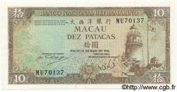 10 Patacas MACAO  1984 P.059d SUP