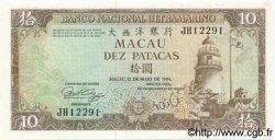 10 Patacas MACAO  1984 P.059d pr.NEUF