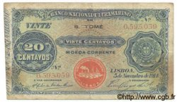 20 Centavos SAINT THOMAS et PRINCE  1914 P.014 B à TB