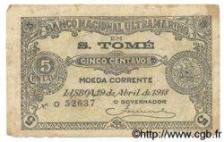 5 Centavos SAINT THOMAS et PRINCE  1918 P.018A