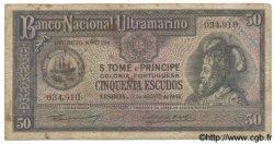 50 Escudos SAINT THOMAS et PRINCE  1946 P.033 B+