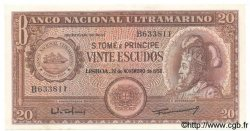 20 Escudos SAINT THOMAS et PRINCE  1958 P.036 SPL