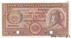 20 Escudos SAINT THOMAS et PRINCE  1958 P.036s NEUF