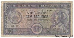 100 Escudos SAINT THOMAS et PRINCE  1958 P.038 B+