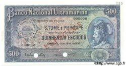 500 Escudos SAINT THOMAS et PRINCE  1956 P.039s NEUF