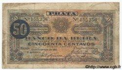 50 Centavos MOZAMBIQUE  1919 P.R04a B+