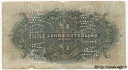 1 Libra MOZAMBIQUE Beira 1919 P.R06c B+