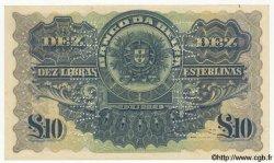 10 Libras MOZAMBIQUE  1921 P.R12 TTB+ à SUP