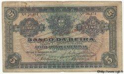 5 Libras MOZAMBIQUE Beira 1919 P.R21 B+