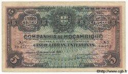5 Libras MOZAMBIQUE Beira 1934 P.R32 TB à TTB