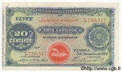 20 Centavos MOZAMBIQUE  1914 P.054 TTB+