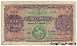 10 Centavos MOZAMBIQUE  1914 P.059 TB+