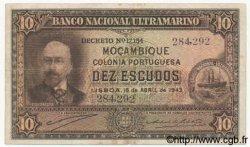 10 Escudos MOZAMBIQUE  1943 P.090 TB+