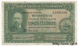 5 Escudos MOZAMBIQUE  1945 P.094 TB