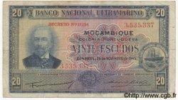 20 Escudos MOZAMBIQUE  1945 P.096 TB+