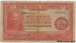 100 Escudos MOZAMBIQUE  1945 P.097 B+ à TB